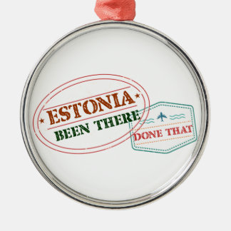 Estonia Been There Done That Silver-Colored Round Ornament