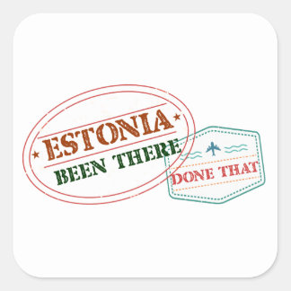 Estonia Been There Done That Square Sticker