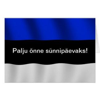 Estonia Birthday Card