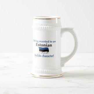 Estonia Builds Character 18 Oz Beer Stein