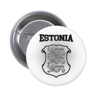Estonia Coat of Arms 2 Inch Round Button