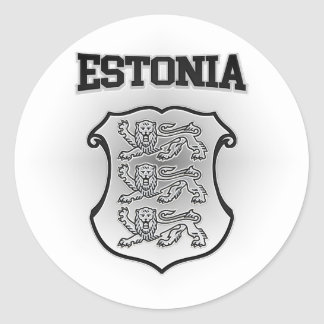 Estonia Coat of Arms Classic Round Sticker