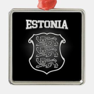 Estonia  Coat of Arms Metal Ornament
