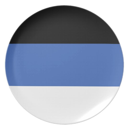 estonia country flag plate