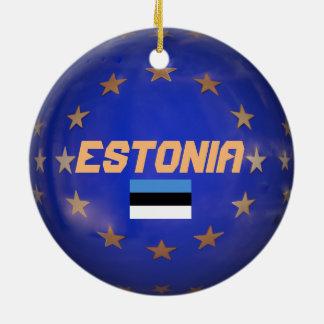 Estonia E.U. Custom Christmas Ornament