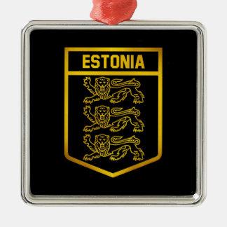 Estonia Emblem Metal Ornament