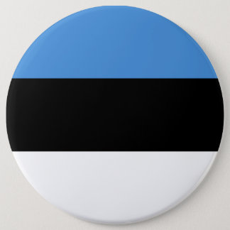 Estonia Flag 6 Inch Round Button