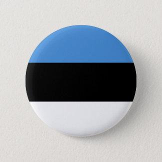 Estonia flag all over design 2 inch round button