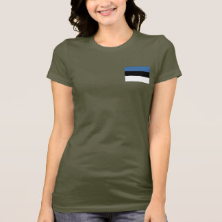 Estonia Flag and Map dk T-Shirt