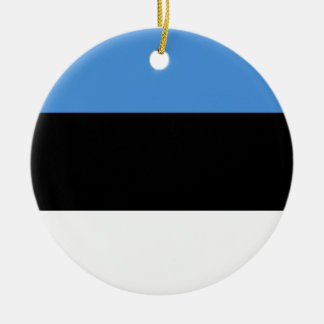 Estonia Flag Ceramic Ornament