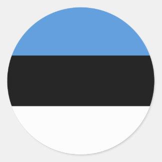 Estonia Flag Classic Round Sticker