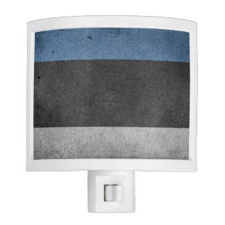 Estonia Flag Grunge Night Light