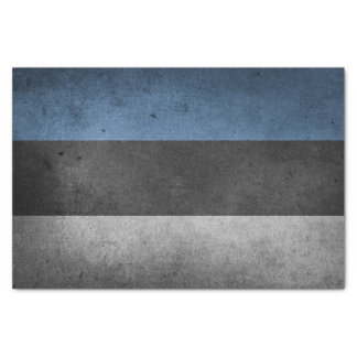 Estonia Flag Grunge Tissue Paper