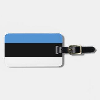 Estonia Flag Luggage Tag