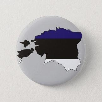 Estonia flag map 2 inch round button