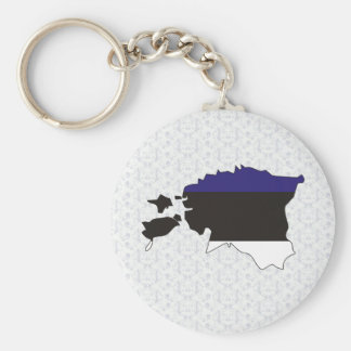 Estonia Flag Map full size Keychain