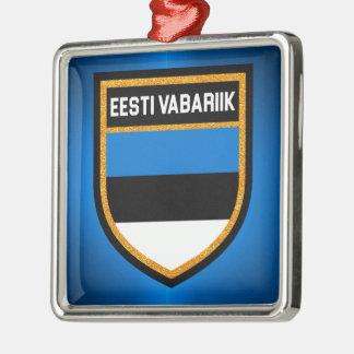 Estonia Flag Metal Ornament