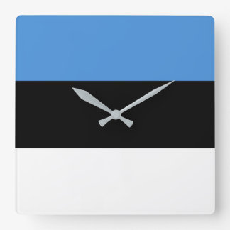 Estonia Flag Square Wall Clock