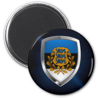 Estonia  Metallic Emblem Magnet
