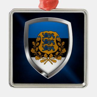 Estonia  Metallic Emblem Metal Ornament