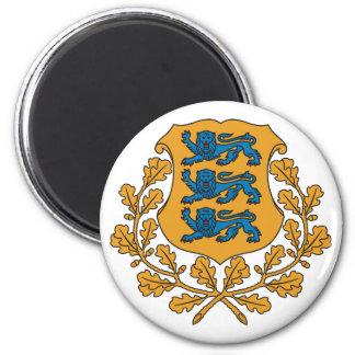 Estonia Official Coat Of Arms Heraldry Symbol 2 Inch Round Magnet
