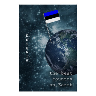 Estonia Out Of This World Poster