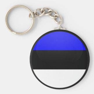 Estonia quality Flag Circle Keychain