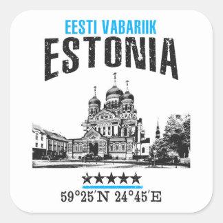 Estonia Square Sticker