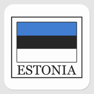 Estonia Square Sticker