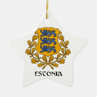 ESTONIA - symbol/coat of arms/flag/colors/emblem Ceramic Star Ornament