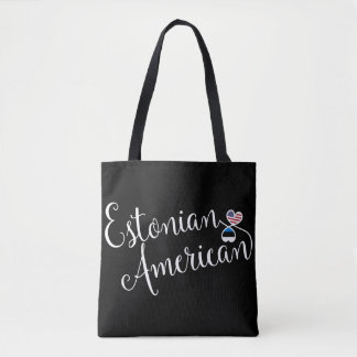 Estonian American Entwined Hearts Grocery Bag