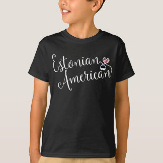 Estonian American Entwinted Hearts Tee Shirt