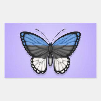 Estonian Butterfly Flag on Purple Sticker