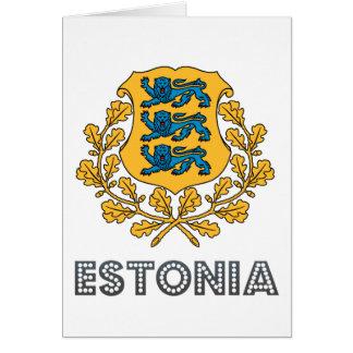 Estonian Emblem Card