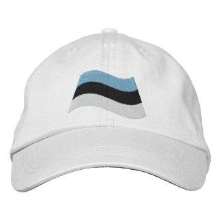 Estonian Flag Embroidered Hat