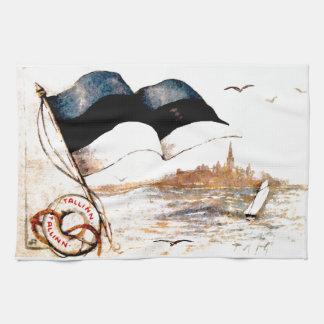 Estonian Flag Tea Towel