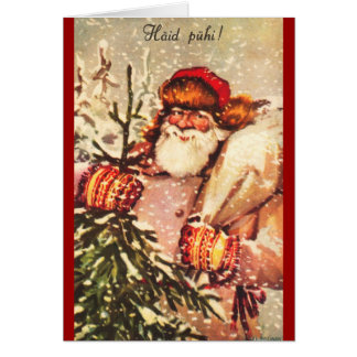 Estonian Santa Claus Christmas Card
