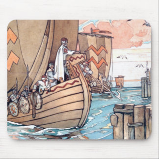 Estonian Viking Boat Mouse Pad