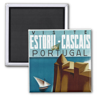 Estoril - Cascais Portugal Square Magnet