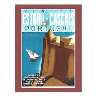 Estoril-Cascais Portugal Vintage Travel Poster Postcard