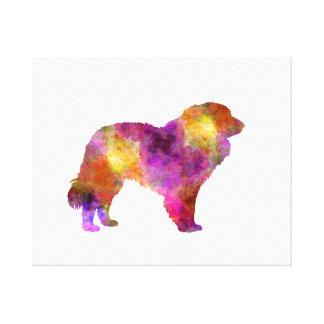 Estrela Mountain Dog in watercolor Canvas Print