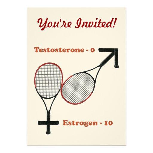 Estrogen Tennis Custom Invitation