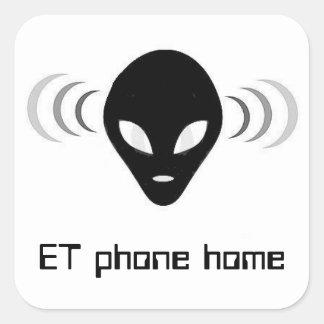 ET autocollants à la maison d'alien d'UFO de