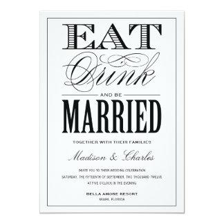 ET SOYEZ FAIRE-PART DE MARIAGE MARIÉ DE %PIPE% CARTON D'INVITATION  12,7 CM X 17,78 CM