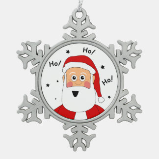 Étain Ho ! Ho ! Ho ! Ornement d'arbre de Noël de