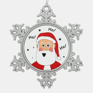 Étain Ho ! Ho ! Ho ! Ornement d'arbre de Noël de P