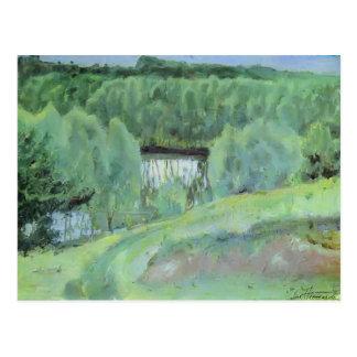 Étang de Mikhail Nesterov- Cartes Postales