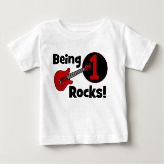 Étant roches 1 ! Le ęr anniversaire du bébé T Shirt