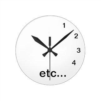 Etc...Clock Round Clock