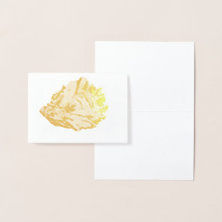 Etched Gold Oyster Seashell Foil Card